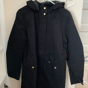 Forever21 Black Hooded Utility Jacket(L)NEW W/ TAG